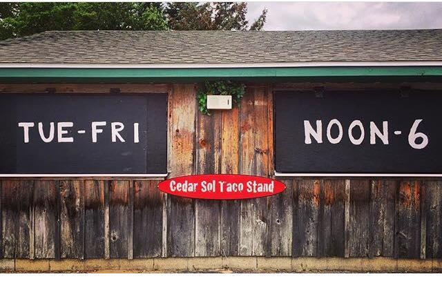 Cedar Sol Taco Stand in Cedar Michigan, a farm fresh roadside taco stand on the Leelanau Peninsula in Michigan.