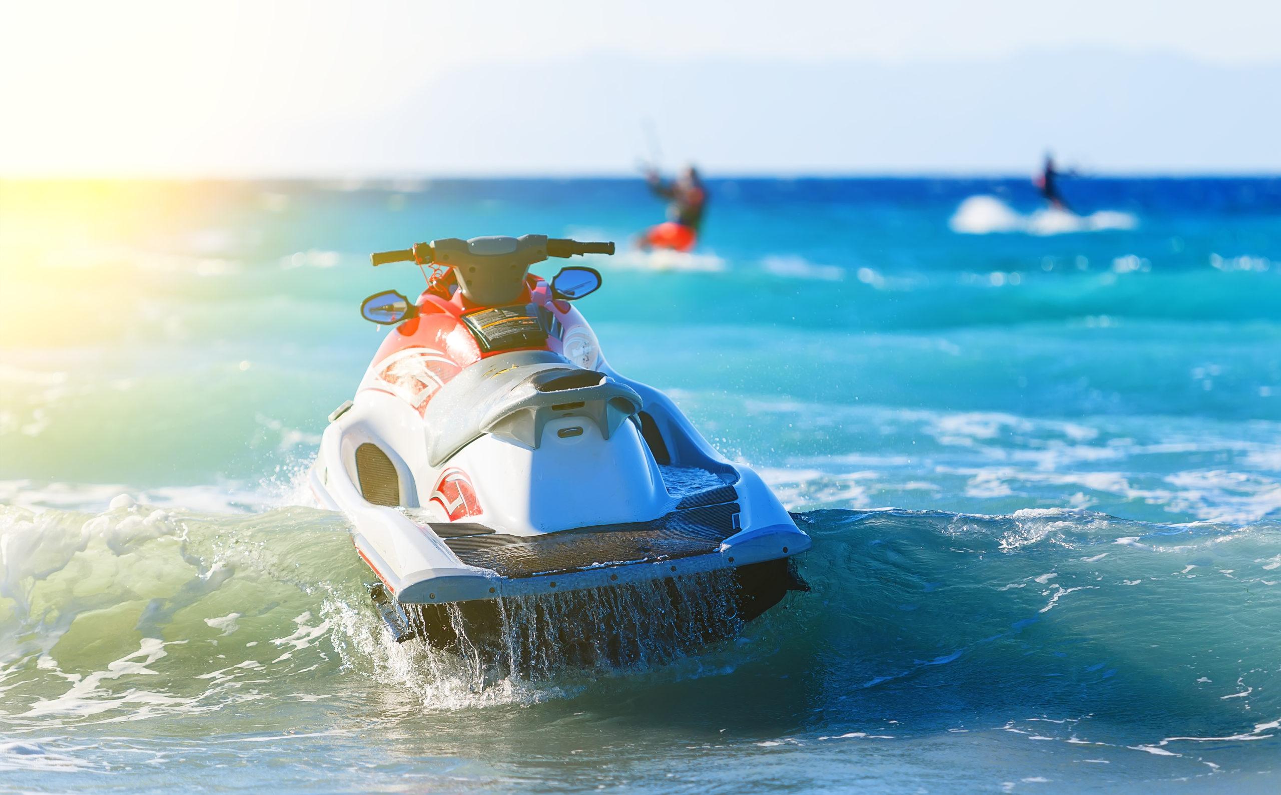 playnorth watersports rental jet ski in lake michigan waves